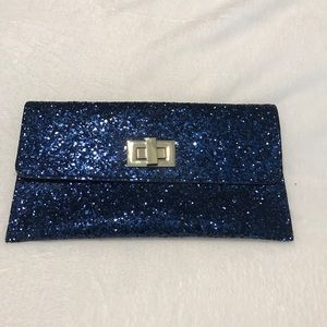 Handbags - Blue Envelope Style Clutch